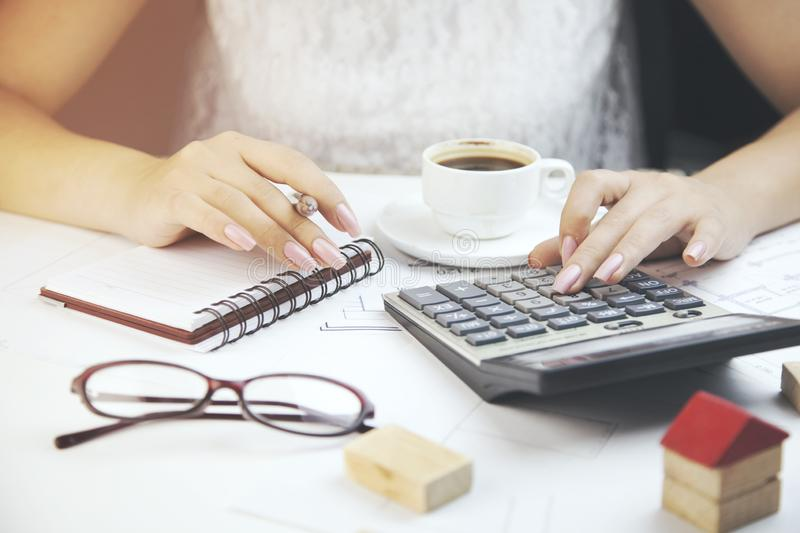 Woman working in office. Business concepts.Woman working in office stock photo
