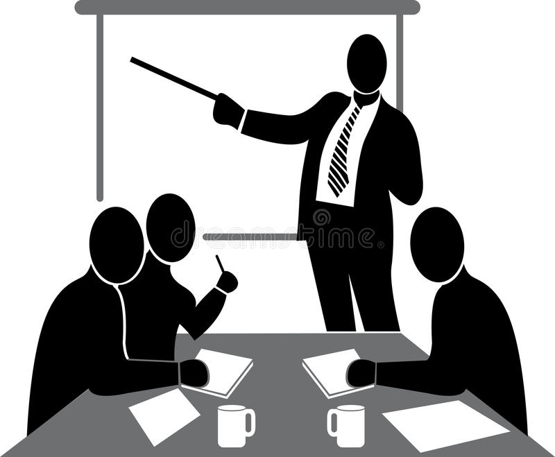 Business conference. Illustration art of a business conference with isolated background vector illustration