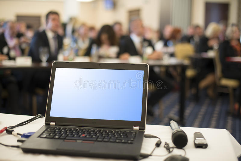 Business conference. Indoor business conference for managers