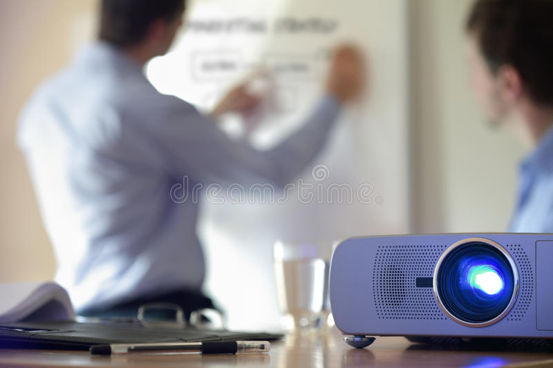 Presentation with lcd projector royalty free stock image