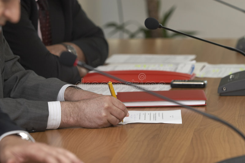 Download Business Conference Microphones Stock Photography - Image: 9235412