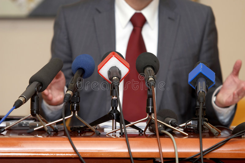 Download Business Conference Microphones Stock Image - Image: 9235447