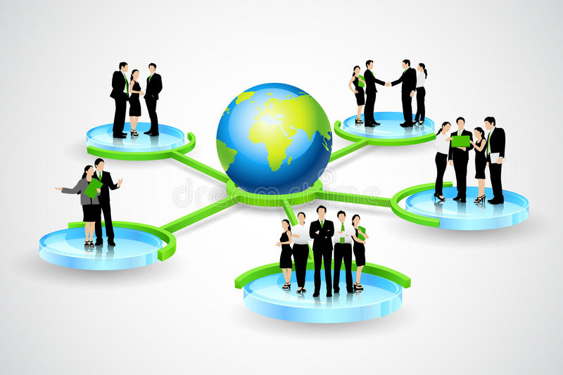 Business connection stock illustration
