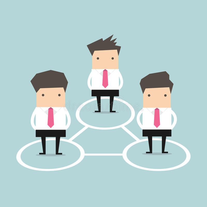 Business Connections. Business man Connections. vector illustration vector illustration