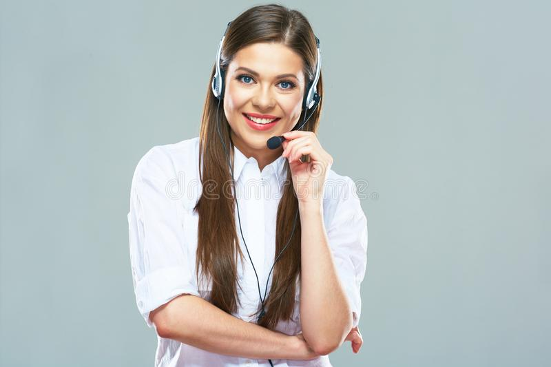 Business consultant, call center operator. stock photography