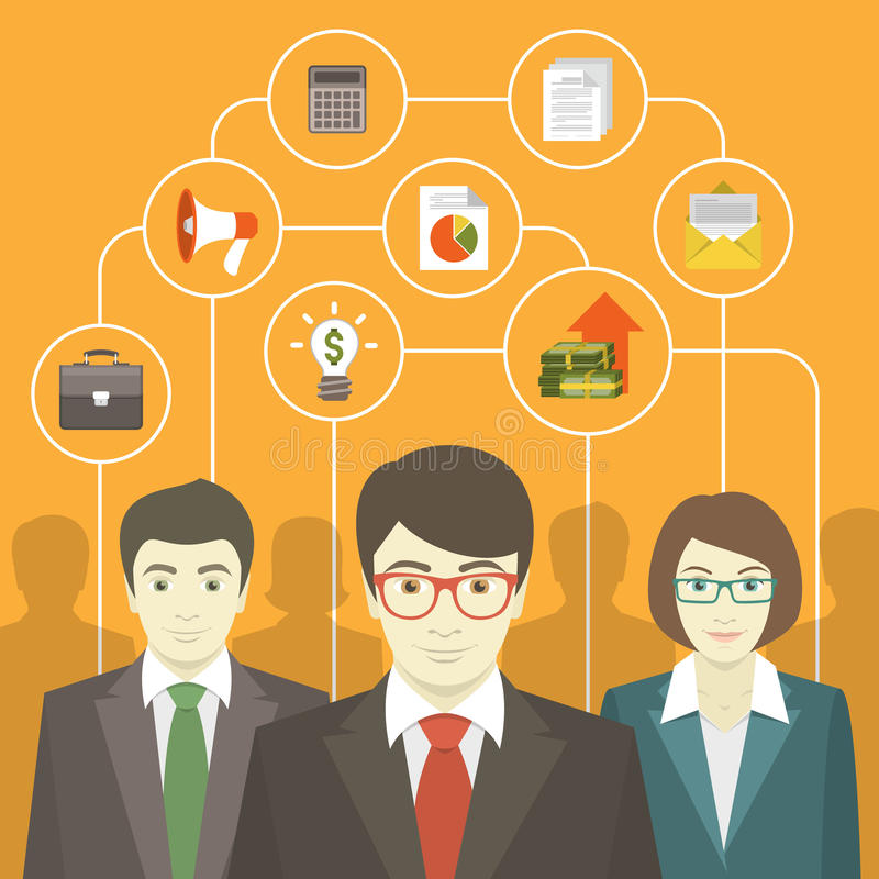 Business Consulting Team stock illustration