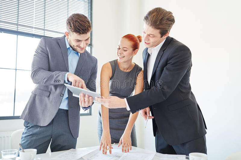Business consulting team having an idea. In business meeting royalty free stock images