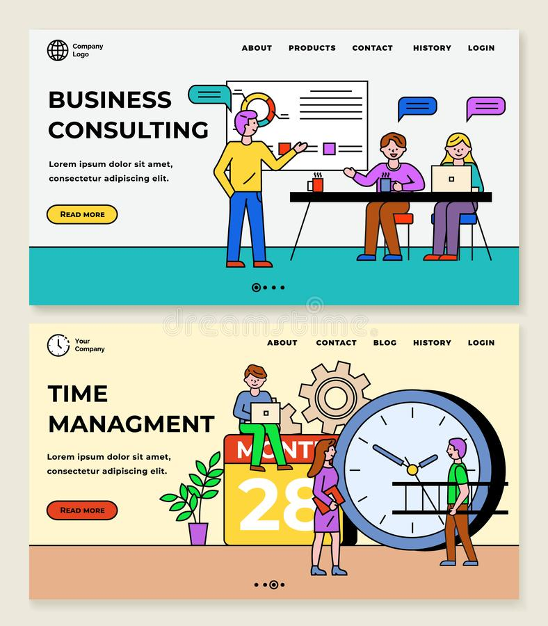 Management Consulting And Workshop Banners Stock Vector ...