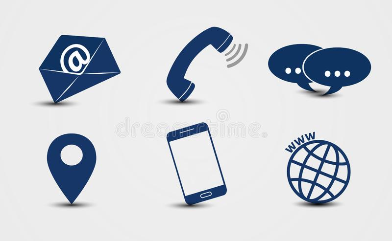 Business contact icon vector royalty free stock photography