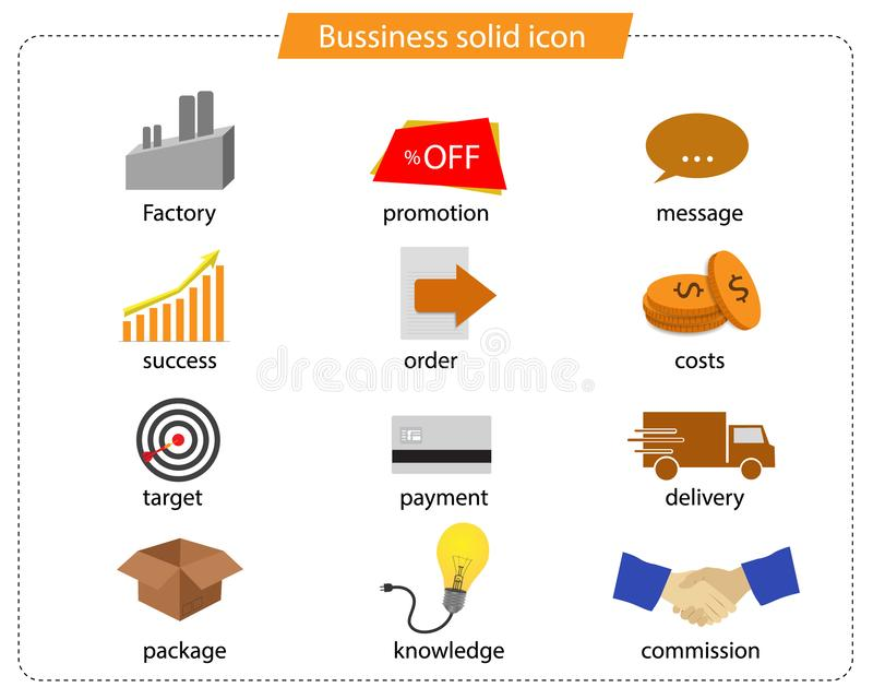 Business contact icon vector royalty free stock images