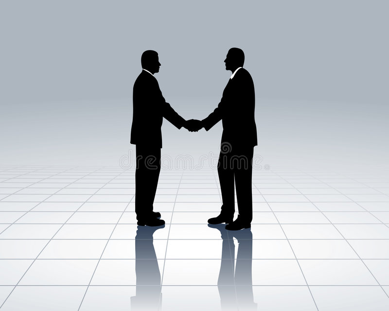 Business contacts stock illustration