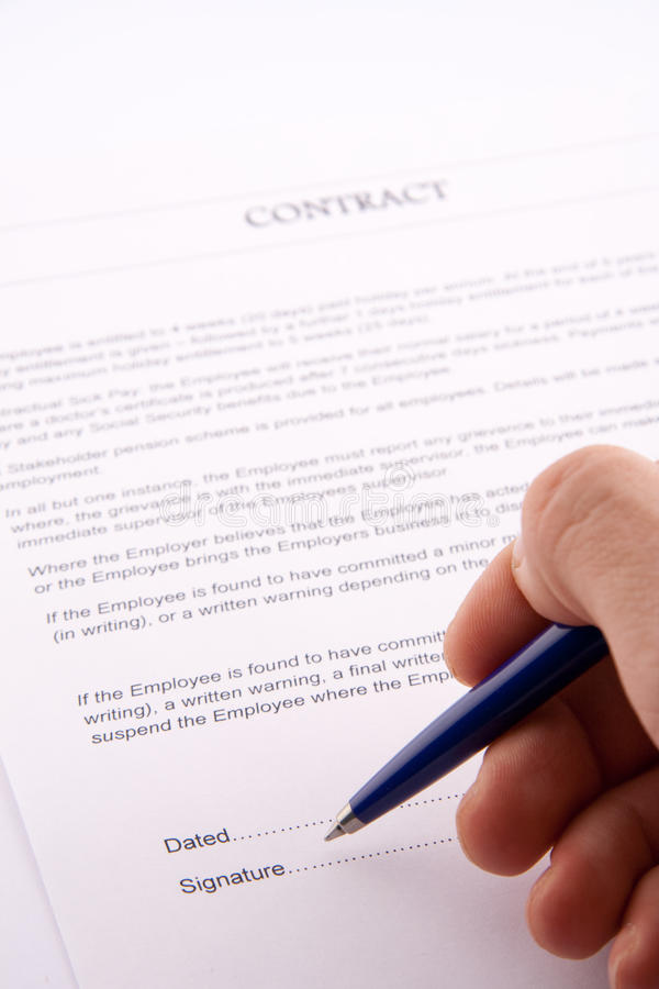 Free Business Contract Stock Photo - 12678260