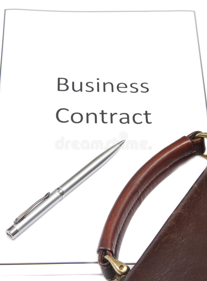 Download Business Contract stock image. Image of paperwork, abstract - 15441101