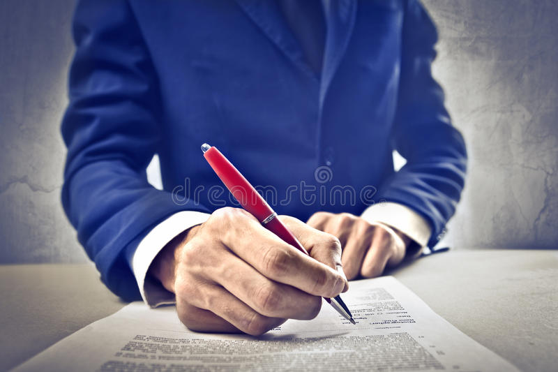 Download Business Contract stock image. Image of business, company - 26194175