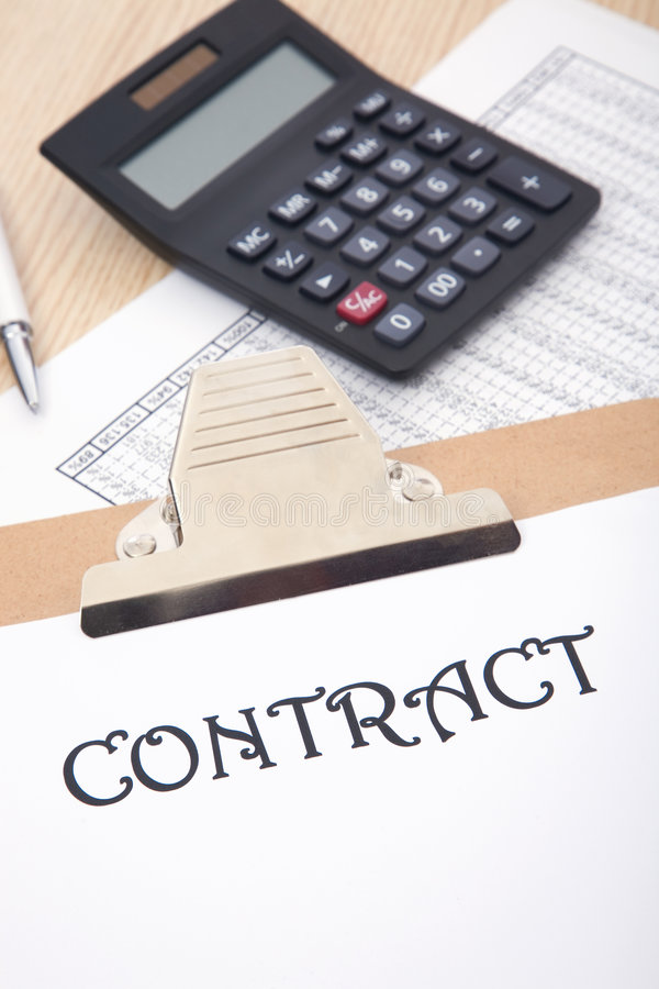 Business contract. Business concept with a contract on the desk stock image