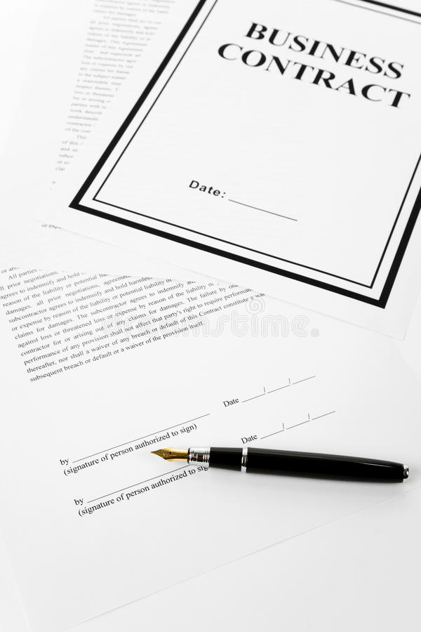 Download Business Contract stock photo. Image of legal, file, business - 9534220