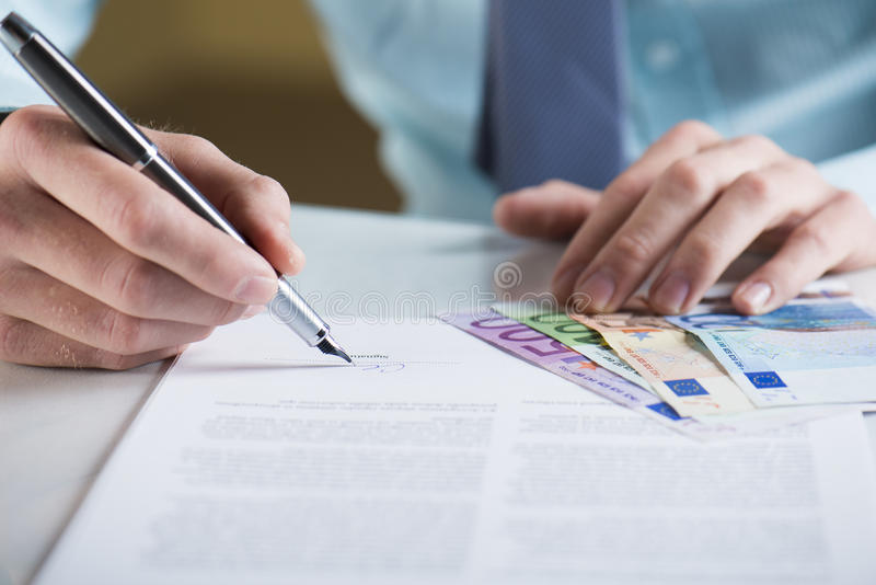 Business contract stock images