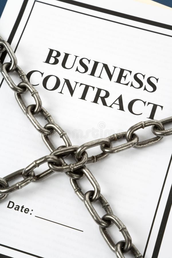 Business Contract and Chain royalty free stock photo
