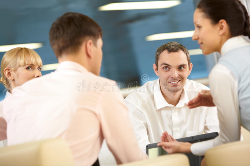 Business conversation royalty free stock photo