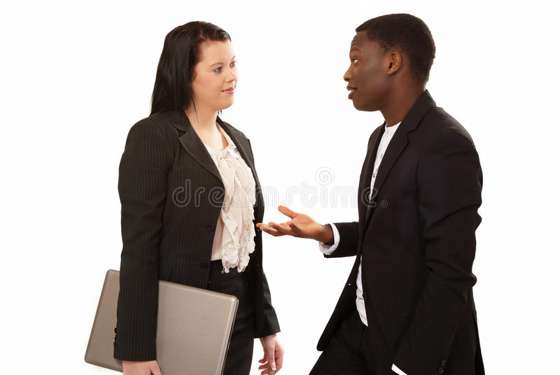 Business conversation royalty free stock photos