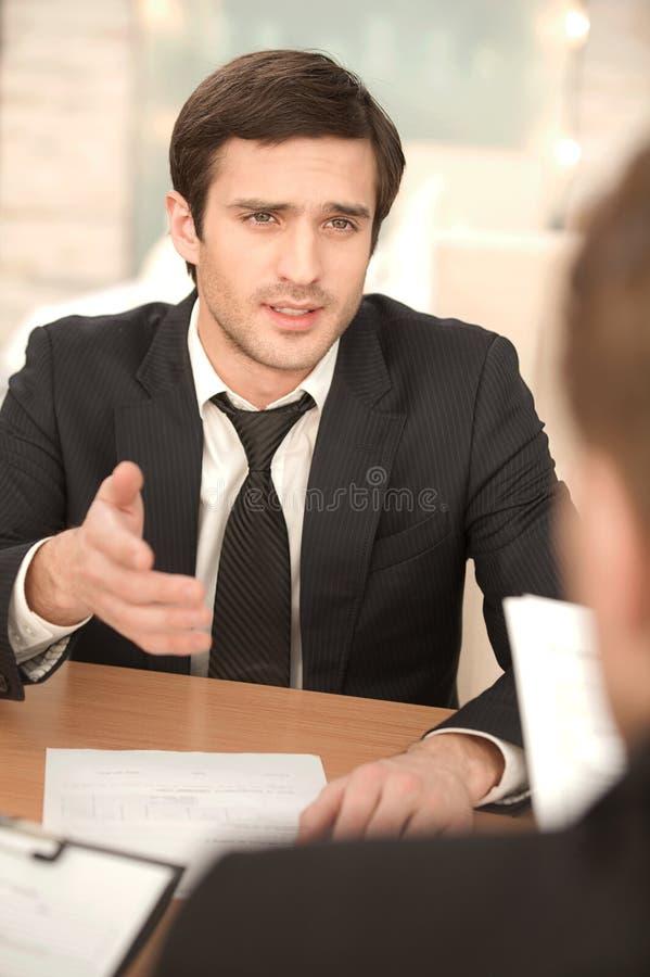 Business conversation. stock photos