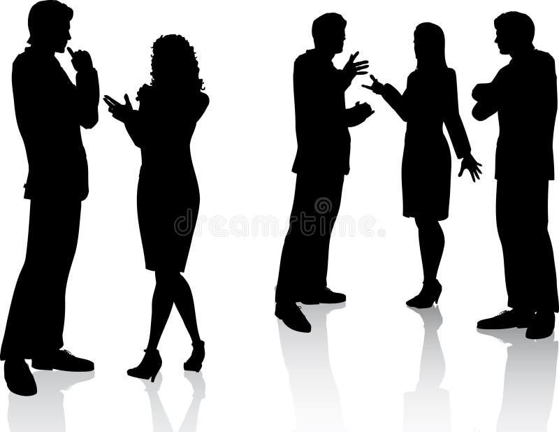 Business conversations stock illustration