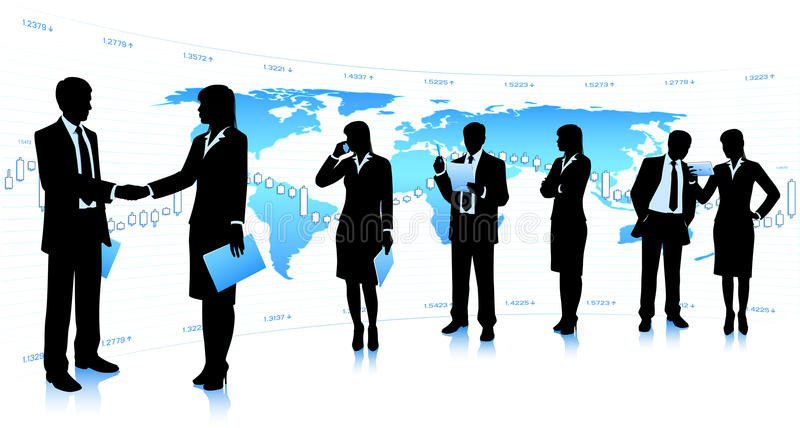 Business cooperation stock photography