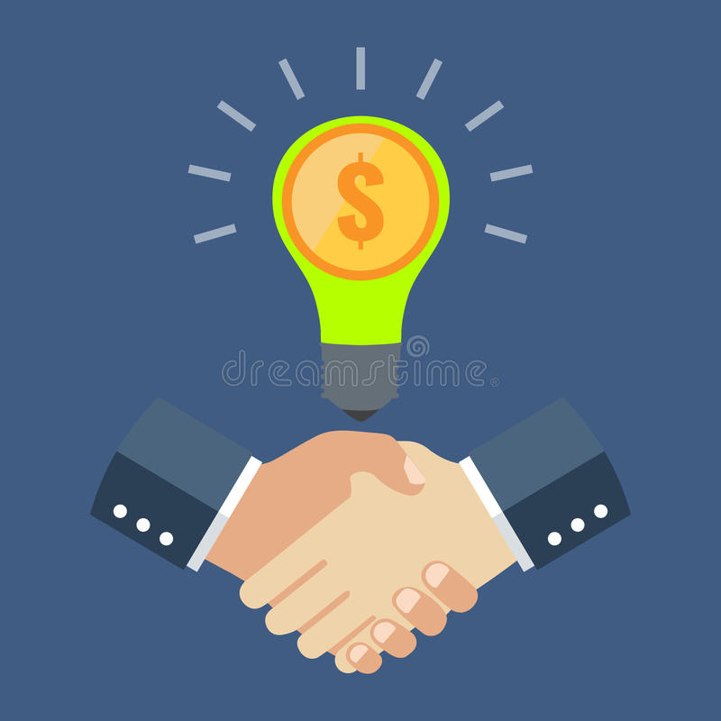 Business cooperation concept. Flat design stylish. Isolated on color background vector illustration