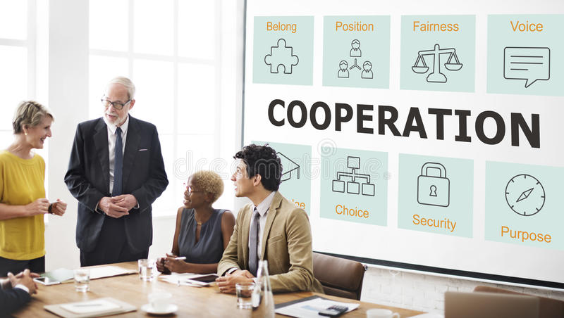 Business Cooperation Strategy Successful Company Concept stock images