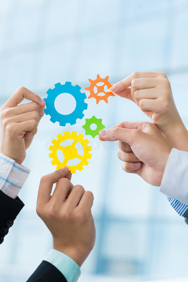Business cooperation royalty free stock photo