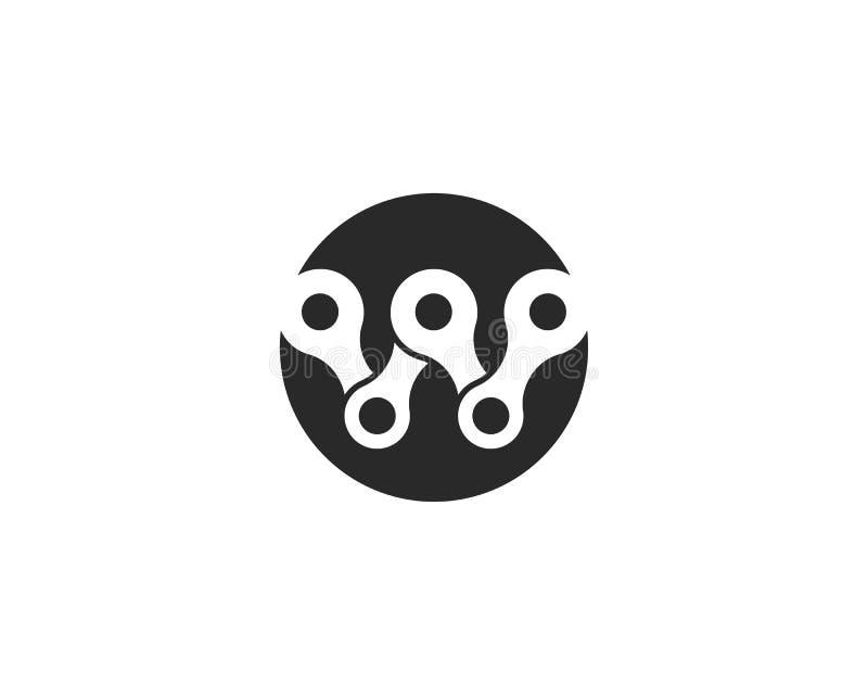 Chain logo design stock illustration