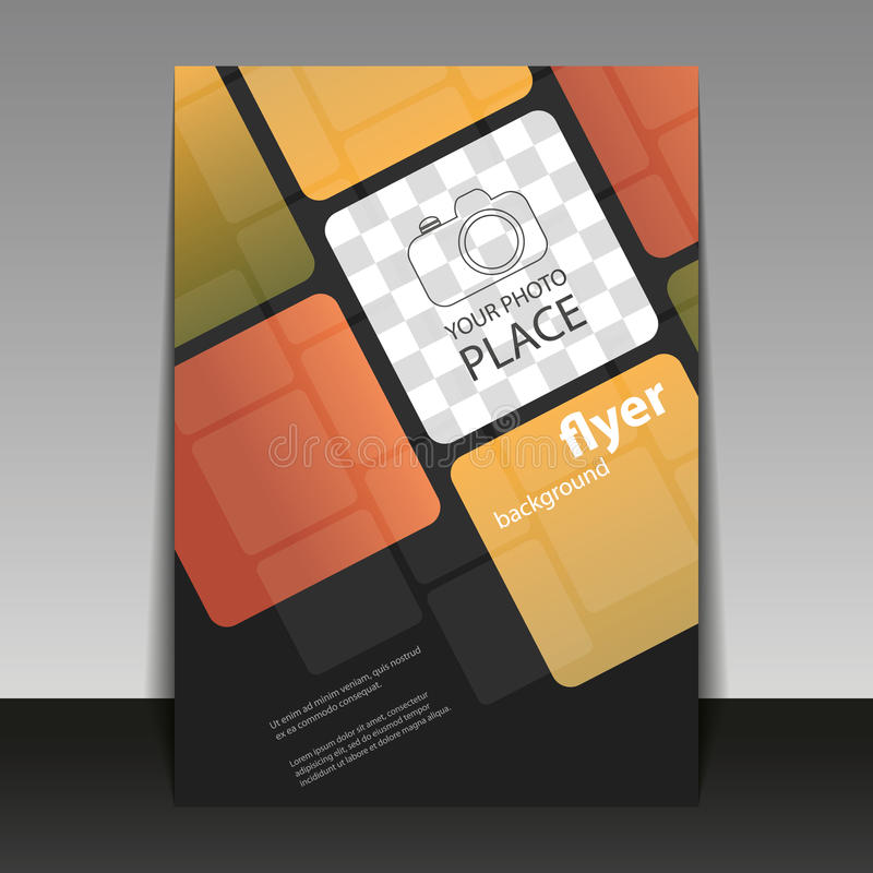 Abstract Modern Template Book Cover ~ Business or corporate flyer template with squares pattern