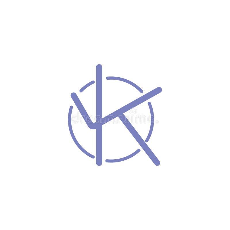 Vector Alphabet K Logos And Icons Stock Vector