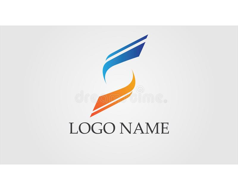 Business corporate letter S logo design vector vector illustration