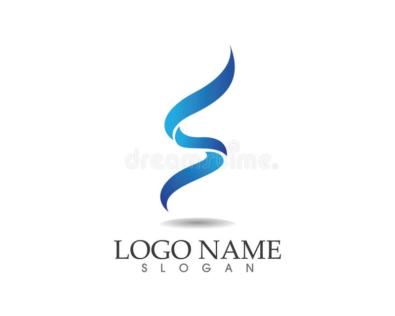 Business corporate letter S logo design vector vector illustration