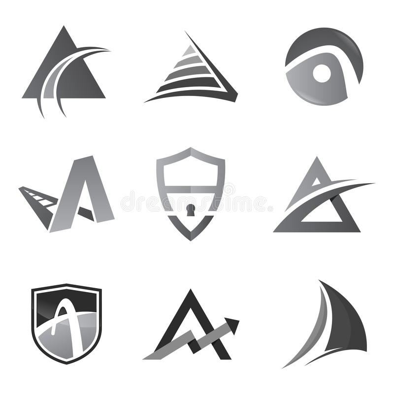 Business corporate logo design template. Simple and clean design of logo vector template royalty free illustration