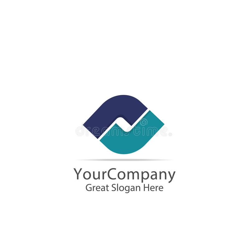 business corporate logo. lettertype letter S square circle symbol. abstract alphabet sign design. vector illustration royalty free illustration