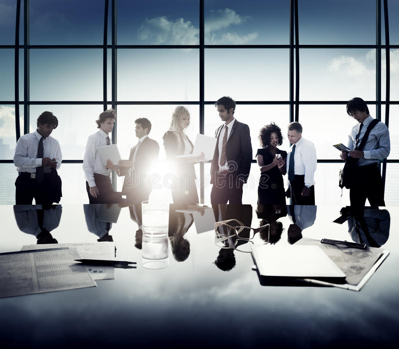 Business Corporate People Digital Communication Discussion Concept.  royalty free stock photos
