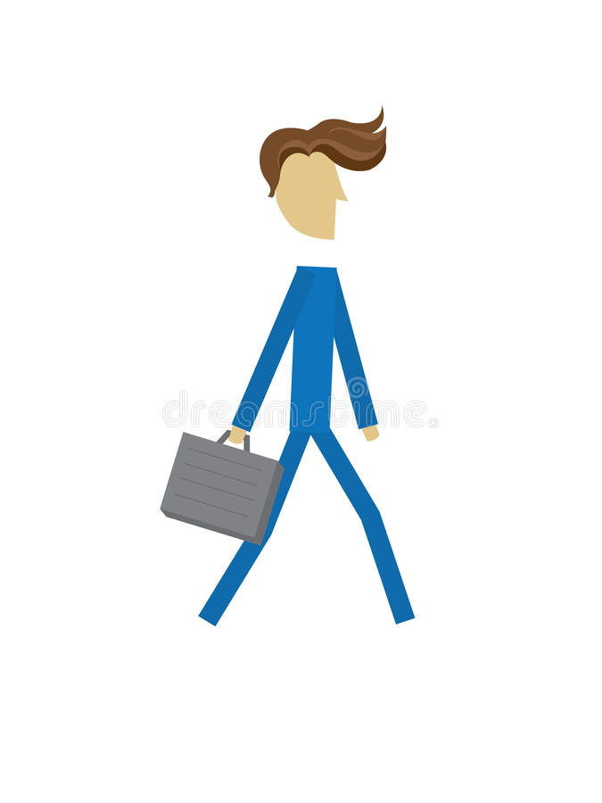 Business corporate person blue case royalty free illustration