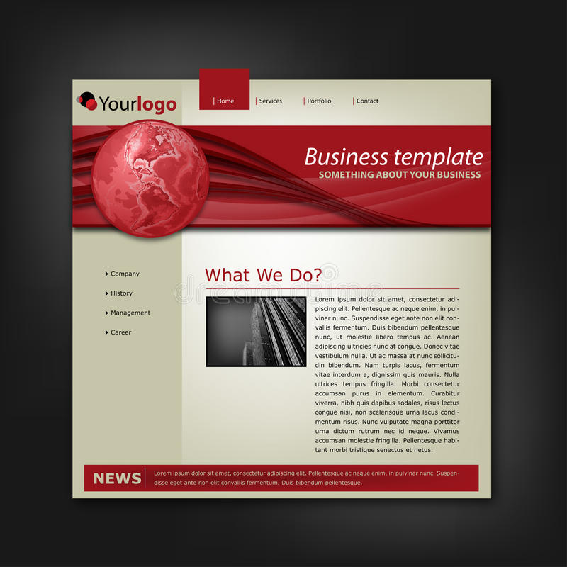 Download Business Corporate Web Site Template Stock Image - Image: 18301221
