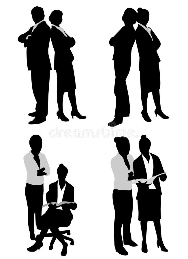 Business couple vector illustration