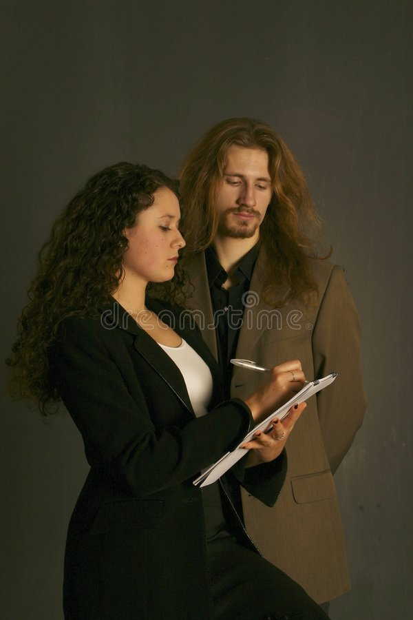 Download Business couple stock image. Image of male, couple, file - 2805603