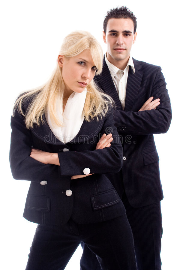Download Business couple stock image. Image of blond, black, vertical - 3692975