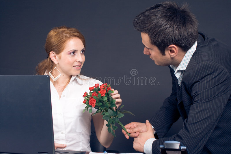 Download Business couple stock photo. Image of computer, young - 7087424