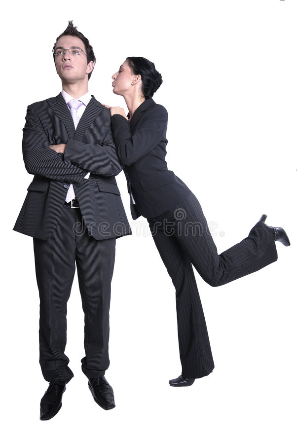 Business Couple in Dark Suits stock images