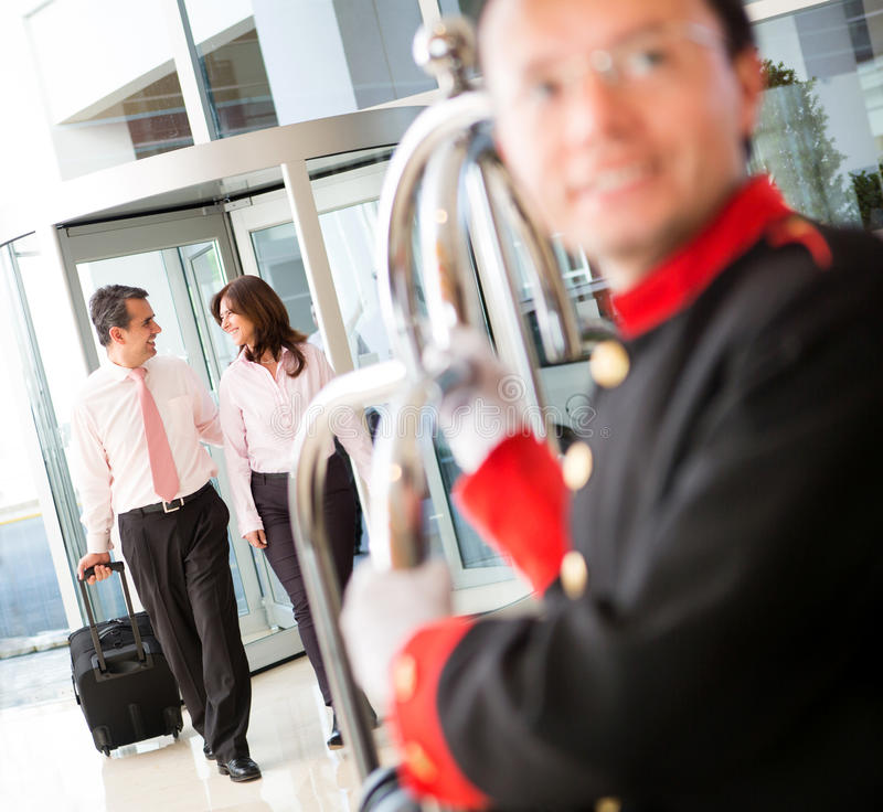 Download Business couple at a hotel stock image. Image of latinamerican - 25070363