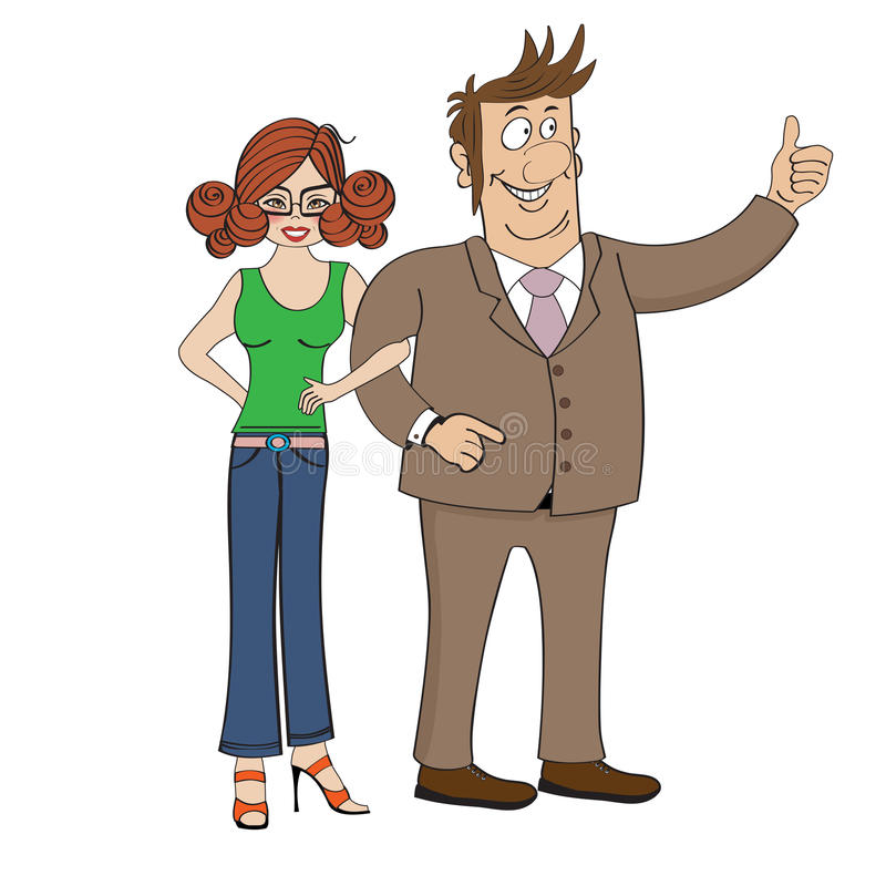 Download Business Couple Isolated On White Background Stock Vector - Image: 31949426
