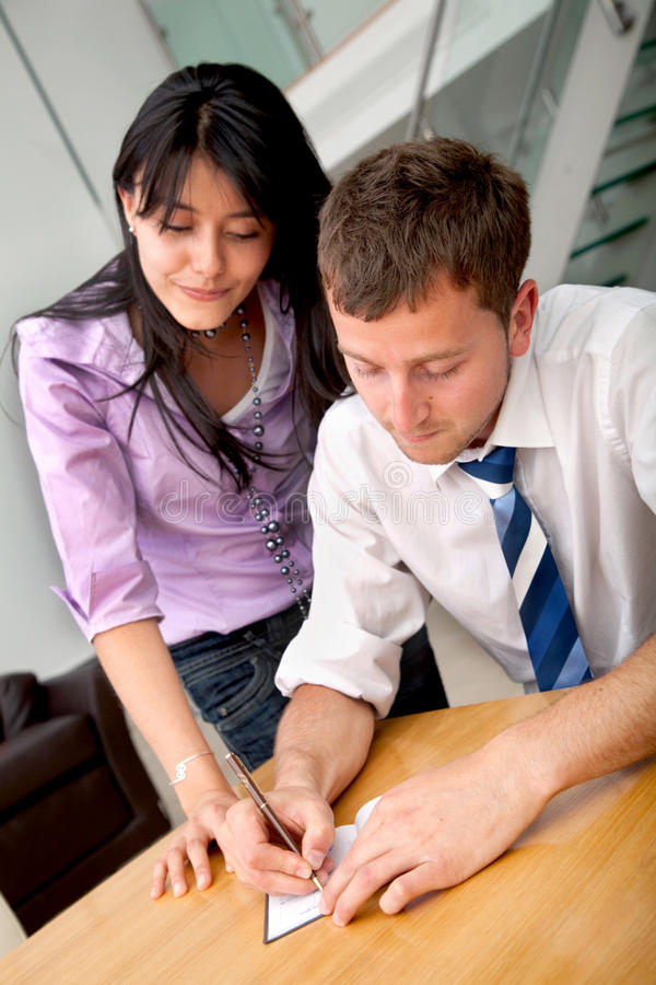 Download Business couple working stock photo. Image of person - 11031728