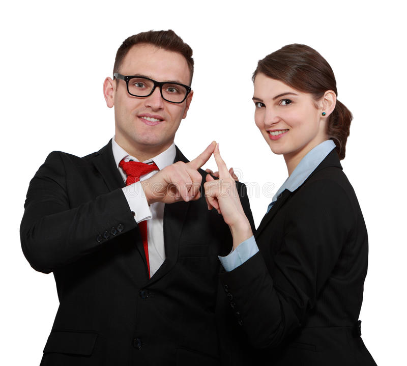 Download Business Couple stock photo. Image of index, point, management - 30606906