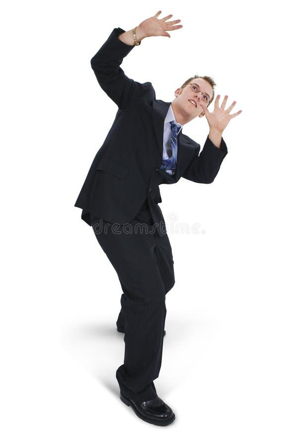 business cowering man στοκ φωτογραφία με δικαίωμα ελεύθερης χρήσης